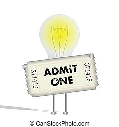 Lightbulb Ticket, Illustration