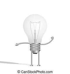 Lightbulb Character, Illustration