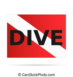 Scuba Dive Flag, Illustration - Illustration of a scuba dive...