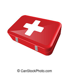 First Aid Kit - Illustration of a first-aid kit isolated on...