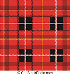 Red Plaid Pattern - Background illustration of a colorful...