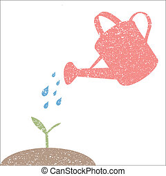 Water Can Illustration - Illustration of watering can and...