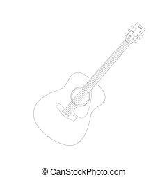 Guitar Vector Illustration - Illustration of an acoustic...
