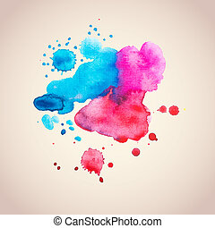 Abstract watercolour / aquarelle grunge background -...