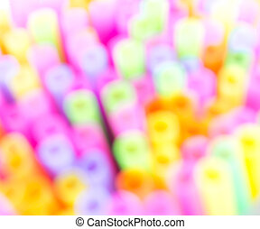 drinking straw - Variety of colorful drinking straws