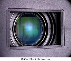 camera lens - hd-camcorder lens close-up in zoom processing