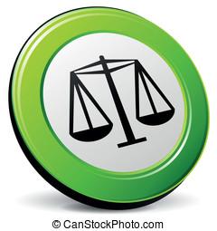 Vector law 3d icon