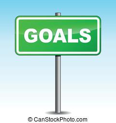 Vector goals signpost
