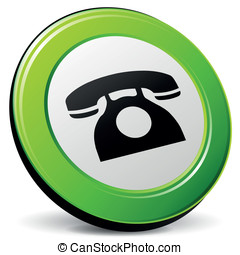 Vector old phone icon 3d - Vector illustration of 3d old...
