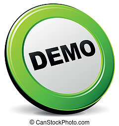 Vector demo 3d icon - Vector illustration of demo 3d icon on...