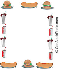 Hamburger and Hotdog Background - Burgers, hotdogs and...