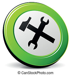 Vector technical support 3d icon - Vector illustration of...