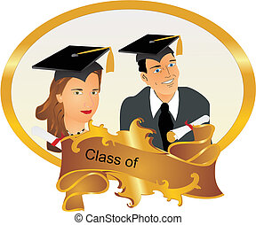 Portrait of our Graduates - Class of Graduating frame with a...