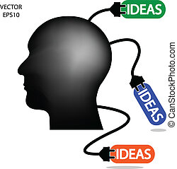 business man, idea charging ,business concepts,vector...
