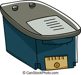 Ink Cartridge - A cartoon ink cartridge