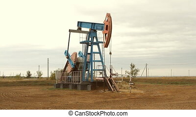 Oil and gas industry. Work of oil p