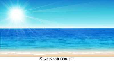 Beautiful sea - Vector illustration of a beautiful summer...