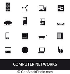 computer network icons eps10