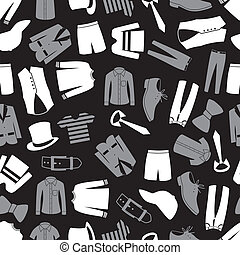 mens clothing seamless pattern eps10