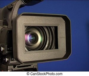 camera lens - hd-camcorder close-up in zoom processing