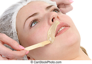 mustache depilation - beauty salon, mustache depilation,...