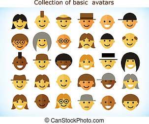 Simple avatars - Collection of different simple flat avatars...
