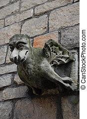 Gargoyle 003 - an old gothic religious stone gargoyle