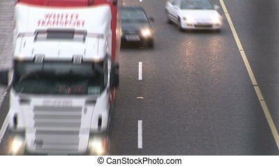 Stock Footage - Traffic at rush hour - A time lapse of...