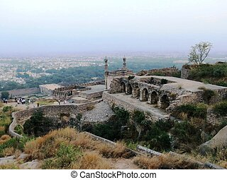 Golconda Fort - Golkonda, also known as Golconda or Golla...