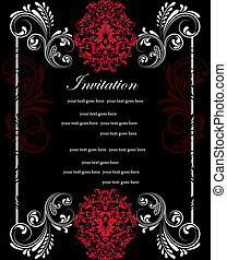 Invitation Card - Wedding card or invitation with abstract...