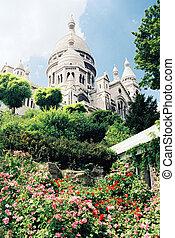 Sacre-Coeur - Sacre Coeur cathedral in Paris, France low...