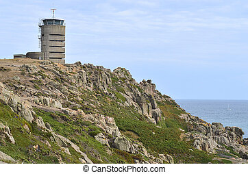 UK, Jersey Island, German WWII watchtower - now transmitting...