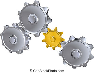 Cogs gears illustration - An illustration of metal machinery...