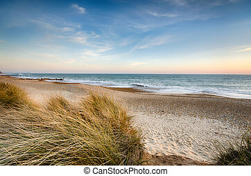 Sand Dunes at Hengistbury Head - The beach and sand dunes at...