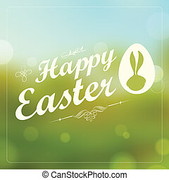 Happy Easter - illustration of Happy Easter typography...