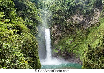 Tappiyah tropical waterfall in Batad, Philippines
