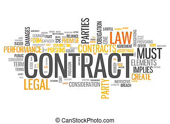 Word Cloud Contract - Word Cloud with Contract related tags