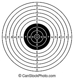 Black target. Front.