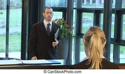 Greeting a Business Person - Greeting at reception