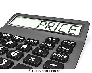 Calculator with PRICE on display - Calculator with PRICE on...