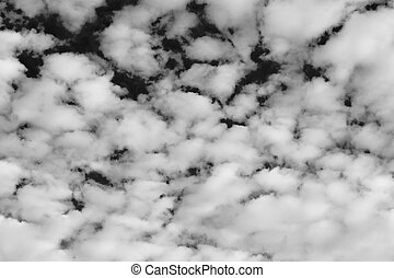 Abstract design of white powder cloud against dark...