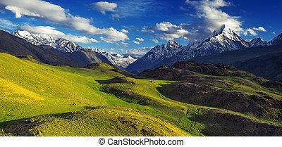 himalayas mountain in summer time