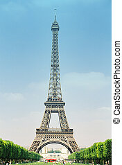 Eiffel Tower - Eiffel tower vertical clear sky from south