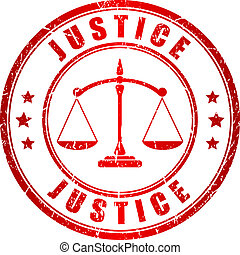 Justice vector stamp isolated on white