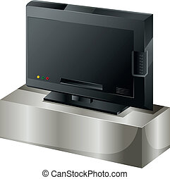 A flat screen television - Illustration of a flat screen...