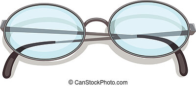 An eyeglass - Illustration of an eyeglass on a white...
