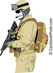 special forces soldier - vector of special operations...