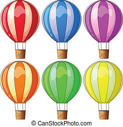 Colourful hot-air balloons - Illustration of the colourful...
