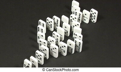 Stock Footage -Dominoes Falling 26