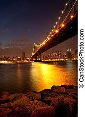 Manhattan Bridge in twilight